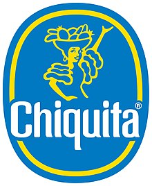 het eerste brand voor bananen: Chiquita