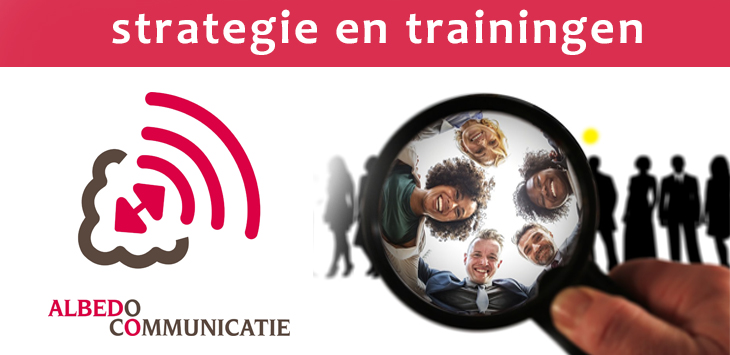 Albedo Communicatie voor strategische communicatieplannen, gamestromsessies en trainingen